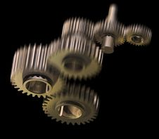 Free Mechanism Of Gear Wheels Royalty Free Stock Image - 13980386