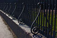 Free S-type Curled Iron Fence Stock Photo - 13981390