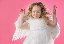 Free Beautiful Little Angel Girl I Royalty Free Stock Photography - 13981717