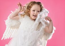 Free Beautiful Little Angel Girl Royalty Free Stock Photos - 13981718