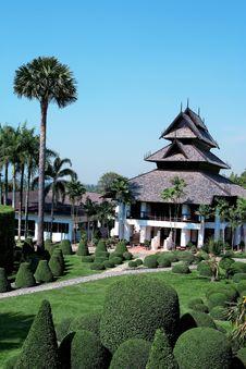 Free Garden In The Resort. Stock Images - 13982364
