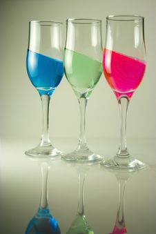 Free 3 Color Glasses Royalty Free Stock Photos - 13982958