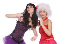 Free Two Female Dolls Royalty Free Stock Photo - 13983275