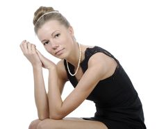 Free Girl In Black Dress Royalty Free Stock Images - 13983529