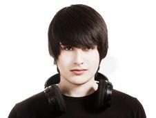 Free Boy With Headphones Royalty Free Stock Photo - 13983725