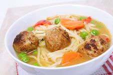 Free Chicken Meatball Soup Stock Photography - 13983882