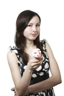 Free Girl With Ice Cream Royalty Free Stock Photos - 13983908