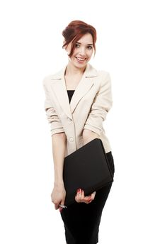 Free Girl With Folder Royalty Free Stock Photography - 13983987