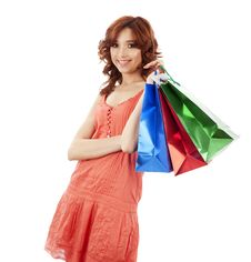 Free Girl With Shopping Bags Royalty Free Stock Photos - 13984038