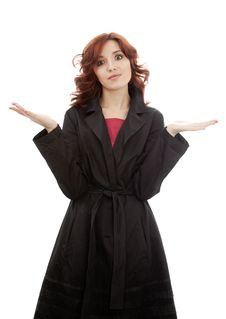 Free Young Woman In Raincoat Royalty Free Stock Photos - 13984058