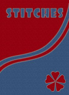 Free Blue And Red Jeans With Stitches Royalty Free Stock Photography - 13984267