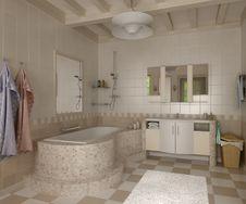 Free 3D Bathroom Stock Photo - 13984340