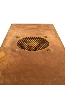 Free Rusted Board With Ventilation Isolated Royalty Free Stock Photo - 13984515
