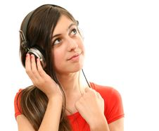 Free The Girl In Headphones Royalty Free Stock Photo - 13985455