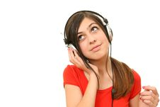 Free The Girl In Headphones Stock Images - 13985484