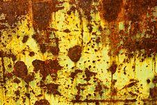 Free Yellow Paint Peeling On Rusty Metal Door Royalty Free Stock Photography - 13985997