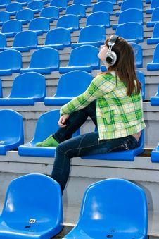 Free Teenager With Earphones Stock Image - 13986561