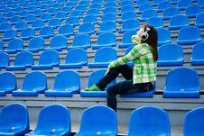 Free Teenager With Earphones Stock Image - 13986571