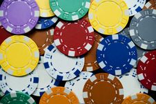 Free Poker Chips Royalty Free Stock Photo - 13986745
