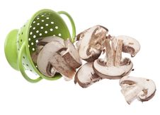 Free Fresh Mushroom Slices Stock Photos - 13986753