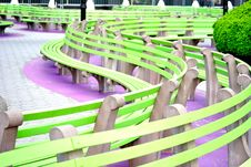 Free Green Benches Stock Image - 13987591