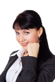 Free Charming Young Woman In A Dark Business Suit Royalty Free Stock Photography - 13987637