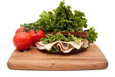 Turkey Sandwich On Rye Bread Royalty Free Stock Image