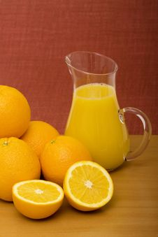 Free Oranges And Orange Juice Stock Image - 13988121