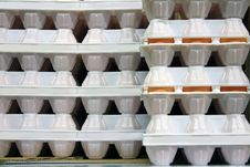 Free Eggs In White Column In A Supermarket Stock Photo - 13988870