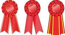 Free Three Red  Award Ribbons Royalty Free Stock Images - 13989629