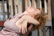 Free Red Hair Woman Enjoying Sun Royalty Free Stock Images - 13989799