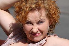 Free Red Hair Woman Enjoying Sun Royalty Free Stock Image - 13989826