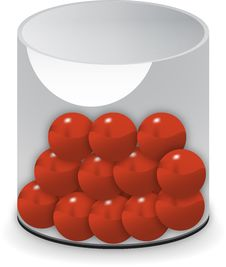 Free Draw Cup With Red Balls Royalty Free Stock Photos - 13989988
