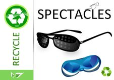 Free Please Recycle Spectacles Stock Photography - 13990132