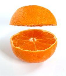 Free Halved Orange Royalty Free Stock Photography - 13990187