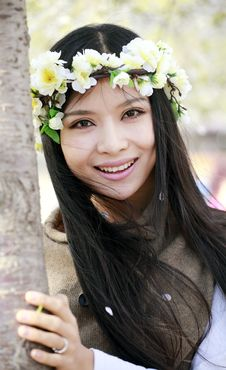 Free Smile Girl In Spring Stock Photos - 13990463