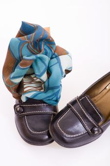 Free Shoes With Shawl Stock Photos - 13990613