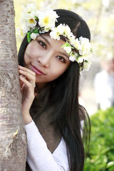 Free Beautiful Girl In Spring Stock Images - 13990614