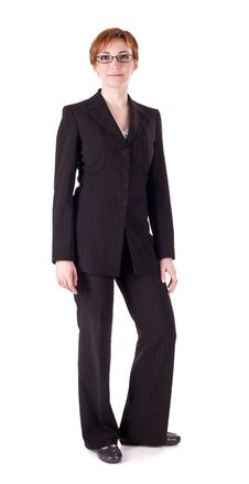 Free Woman In Black Suit Royalty Free Stock Photography - 13992187