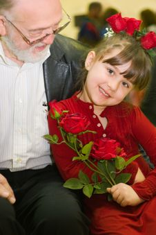Free Grandpa & Granddaughter Portrait Stock Images - 13992544