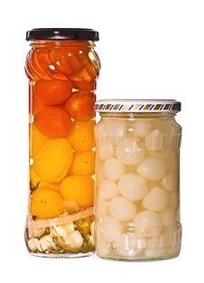 Free Jars Of Marinaded Vegetables Stock Image - 13993041
