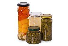 Free Jars Of Marinaded Vegetables Royalty Free Stock Image - 13993046