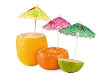 Free Lemon, Tangerine, Lime Halves Stock Photo - 13993110
