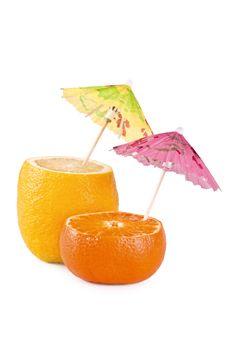 Free Lemon And Tangerine Halves Stock Photos - 13993113