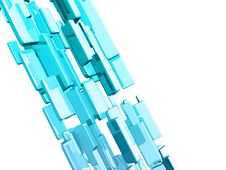 Free Blue 3d Cubes With Glossy Light Effects Royalty Free Stock Images - 13993209