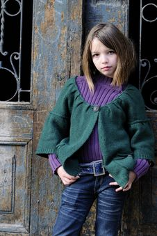 Free Young Model Portrait And Door In Background Stock Images - 13993474
