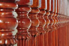 Free Wooden Colonnade Royalty Free Stock Images - 13993849