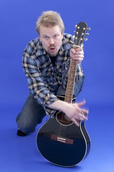 Free Man Plays Guitar Stock Photo - 13994160