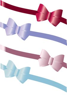 Free Colorful Gift Bows Stock Image - 13994171