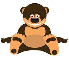 Free Amusing, Smiling Bear. Vector Illustration Stock Photo - 13994330